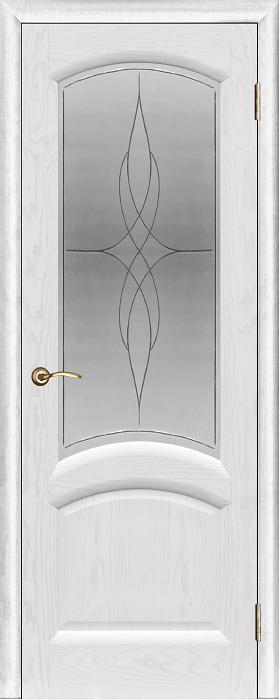 Дверь межкомнатная массив дуба Фараон-1 (дуб белая эмаль